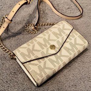MICHAEL KORS Monogram Mini Crossbody Bag -OffWhite